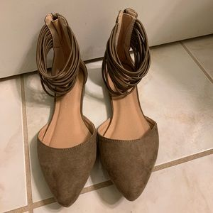 Brand New Brown Suede Shoes - Size 6